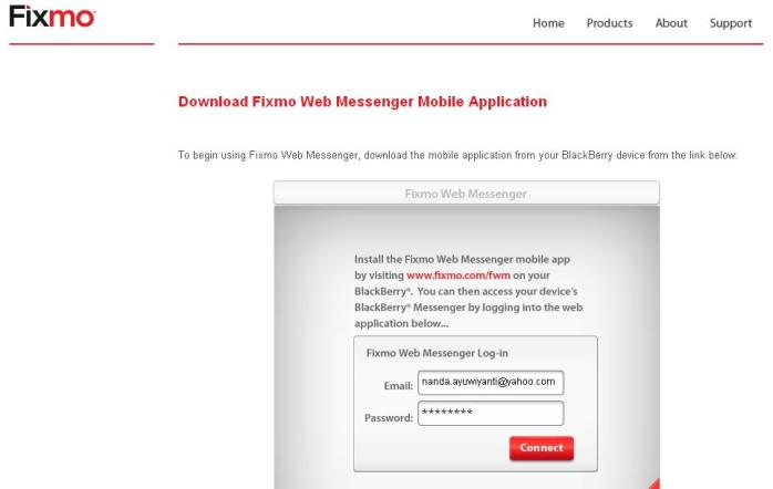 Fixmo Web Messenger
